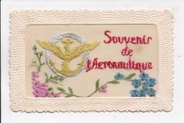 CP BRODEE Souvenir De L'Aeronautique - Brodées