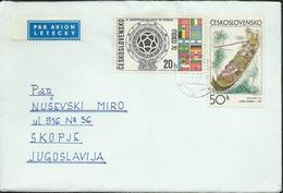 Czechoslovakia - 1971 Letter Via Macedonia Yugoslavia - 1970 Football World Cup - Mexico & Graphic Art - Covers & Documents