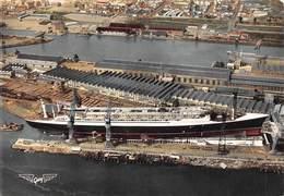 1T19-GB-753 : SAINT NAZAIRE. CHANTIER DE CONSTRUCTION DU PAQUEBOT FRANCE  LANCEMENT 11 MAI 1960 - Saint Nazaire