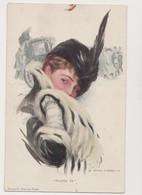 Cpa Fantaisie Dessinée ( Harrison Fisher) / Jeune Femme Au Chapeau /Reinthal& Newman , N.Y. - Fisher, Harrison
