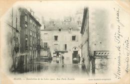 SL 41 BLOIS. Inondation De La Loire 1902 Rue Porte Bastille - Blois