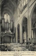 PARIS EGLISE ST GERVAIS BOMBARDE PAR LES CANONS LE VENDREDI SAINT 29 MARS 1918 LES ORGUES  RV - Churches