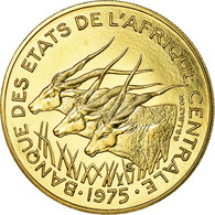 Monnaie, États De L'Afrique Centrale, 25 Francs, 1975, Paris, ESSAI, FDC - Centrafricaine (République)