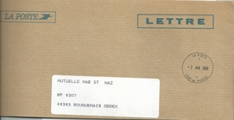 Cachet Manuel - CRSF De Nantes - Enveloppe De Service - Postmark Collection (Covers)
