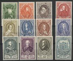 BELGIQUE Cote 325 €. N° 880 à 891 ** (MNH). Série Complète De 12 Valeurs, Congrès De L' U.P.U. En 1952. TB - Belgium