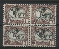 COTE DES SOMALIS / COLONIES Cote 4 €. N° 53 Bloc De 4 Du 1ct Brun-lilas Et Noir. Oblitéré. TB - Côte Française Des Somalis (1894-1967)