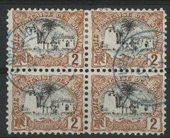 CÔTE DES SOMALIS / COLONIES Cote 5 €. N° 54 Bloc De 4 Du 2ct Brun-jaune Et Noir. Oblitéré. TB - Côte Française Des Somalis (1894-1967)