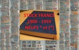 France - 1900 à 1959 - Stock De Timbres Neufs * Et (*) - Départ 1 Euro !!! - Briefmarken