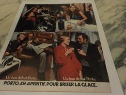 ANCIENNE PUBLICITE BRISER LA GLACE PORTO 1971 - Alcohols
