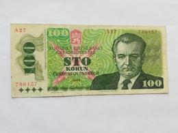 CECOSLOVACCHIA 100 KORUN 1989 - Cecoslovacchia