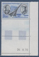 = Postes Aérienne Mermoz Et Saint Exupéry Coin Daté 26.8.70 Neuf X1 N°PA44, Avec Le Concorde - 1960-.... Neufs