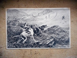 CPA CHIEN CHIEN CHASSE ARTHUR A DAVIES 1904 - Chiens