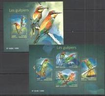 TG064 2015 TOGO TOGOLAISE FAUNA BIRDS GUEPIERS KB+BL MNH - Oiseaux