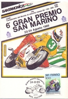 MOTO GP  SAN MARINO   MAXIMUM POST CARD  (GENN201355) - Motorbikes