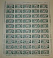 REPUBBLICA ! 1965 ITALIA LIRE 70 UIT TELECOMUNICAZIONI FOGLIO INTERO MNH** ! 996 - Full Sheets