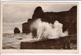 Cpa Helgoland Sturmische See A D Westkuste 1911 - Helgoland
