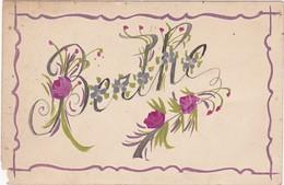 Prénoms : BERTHE - Fait Main - ( Fleurs ) - Attention Un Manque Bas Gauche - Firstnames
