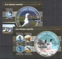 TG116 2015 TOGO TOGOLAISE FAUNA BIRDS WATER BIRDS LES OISEAUX MARINS KB+BL MNH - Albatrosse & Sturmvögel