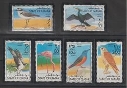 Qatar 1976 Oiseaux 341-46 6 Val ** MNH - Qatar