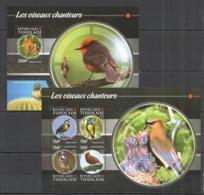 TG120 2015 TOGO TOGOLAISE WILD FAUNA BIRDS SONGBIRDS LES OISEAUX CHANTEURS KB+BL MNH - Sperlingsvögel & Singvögel