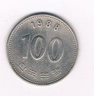 100 WON  1988 ZUID KOREA /768/ - Corée Du Sud