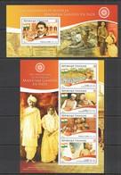 TG171 2015 TOGO TOGOLAISE 100TH ANNIVERSARY RETURN MAHATMA GANDHI IN INDIA KB+BL MNH - Mahatma Gandhi