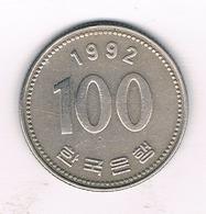 100 WON  1992 ZUID KOREA /769/ - Corée Du Sud