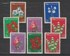 Yemen Rep. Arabe 1964 Fleurs 95-99 + PA 36-38 8 Val ** MNH - Jemen