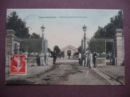 CPA 51 SAINTE MENEHOULD Entrée Du Quartier De Cavalerie RARE EN COULEUR 1908 - Sainte-Menehould