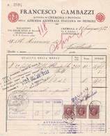 FATTURA COMMERCIALE - CREMONA - AGIP -AGENZIA DI CREMONA E PROVINCIA DELLA AZIENDA GENERALE ITALIANA DEI PETROLI - Italia