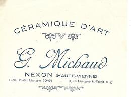 Traite 1936 / 87 VIENNE / NEXON / G. MICHAUD / Céramique D'Art - Bills Of Exchange