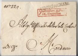 PERIODO NAPOLEONICO - DA SENIGALLIA A MONDAVIO - 23.2.1809.. - Italia