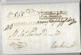 PERIODO NAPOLEONICO - DA SENIGALLIA A BARCHI - 22.5.1810. - Italia