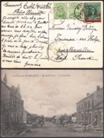"Belgique - CP COB 137x2+184 ""Environs De Momignies - LaFortelle"" De Momignies 30/6/21 Vers Maroilles (RD319)DC5833 - 1915-1920 Alberto I"