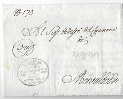 PERIODO NAPOLEONICO - DA SENIGALLIA A MONTALBODDO - 23.5.1813 - 1. ...-1850 Prephilately