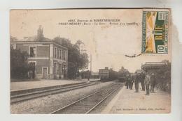 LOT 11012050 CPSM GRAND BOURGTHEROULDE (Eure) - THUIT HEBERT : La Gare : Arrivée D'un Train - Bourgtheroulde