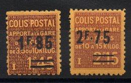 FRANCE - YT CP N° 119-120 - Neufs * - MH - Cote: 60,00 € - Colis Postaux