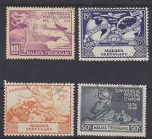 MALAYA - TRENGGANU 1949 UPU SET FINE USED Cat £11 - Trengganu