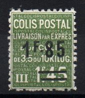 FRANCE - YT CP N° 123 - Neuf * - MH - Cote: 95,00 € - Colis Postaux