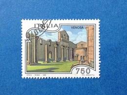 1995 ITALIA TURISTICA VENOSA FRANCOBOLLO USATO ITALY STAMP USED - 6. 1946-.. Republic