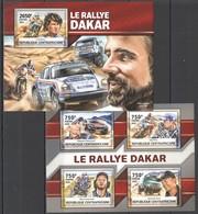 CA033 2016 CENTRAL AFRICA CENTRAFRICAINE SPORT RALLY DAKAR LE RALLYE DAKAR KB+BL MNH - Automobile