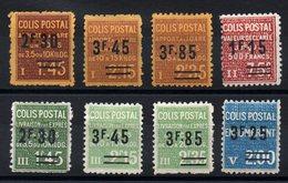 FRANCE - YT CP N° 147 à 154 - Neufs * - MH - Cote: 35,00 € - Parcel Post