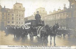 FUNERAILLES   DE S. EM. MGR  LE CARDINAL RICHARD  ARCHEVEQUE PARIS 01/02/1908 - Funérailles