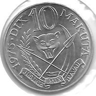 * Bel.  Congo   Zaire 10 Makuta 1975  Km 7  Xf+ - Zaïre (1971-97)