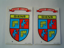 CARTE POSTALE : ECUSSON ADHESIF - AUTOCOLLANT / GIENS - France