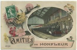 Honfleur 14 Amitiés De Honfleur Gare Train - Honfleur