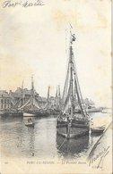 14 Port-en-Bessin - Le Premier Bassin Bateau Chalutier Port 190x BE - Port-en-Bessin-Huppain