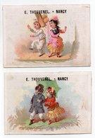 - 2 CHROMOS E. THOUVENEL - ARTICLES DE VOYAGE ET DE CHASSE - VOITURES D'ENFANTS - Rue Saint-Dizier, NANCY - - Other