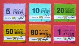 Poland 1998 - Used (o) - Postage Due, Taxe, Portomarken Mi. 169/74 - Pologne Polonia Polen --- 44 - Taxe