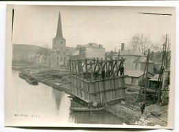 Photo Originale  Format : 180*128 Mm  GIVET  Reconstruction Du Pont 1929   A VOIR  !!! - War, Military